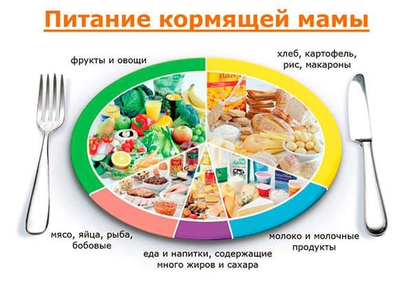 Таблица и меню для правильного питания кормящей мамы в первые месяцы