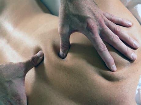 лечение остеохондроза спины точечный массаж фото